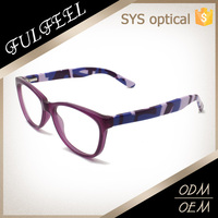 2015 Latest new design camouflage temple cheap optical frames