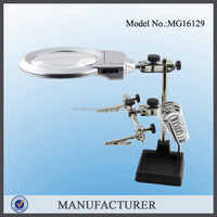 MG16129, 2.5x, 6x table mounted magnifying glass for medical and led production