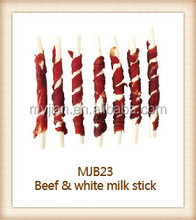 beef and white milk stick for dry dog treats pet food