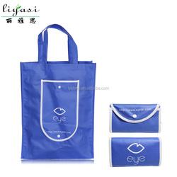 Hot Customized Foldable Shopping Bag,hot Flexible Easy Carrying Fashion Non-woven Foldable Shopping Tote Bag