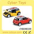 2015 Producto popular 1:24 autos diecast tirar atrás mini cooper coche de juguete para la venta