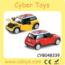 2015 Hot product 1:24 diecast cars pull back mini cooper car toy for sale