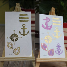 Change color with UVA radiation custom temporary gold sticker tattoos for new