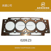 AOSHENG High quality,hot selling engine cylinder head gaskets with OEM:0209.Z3 metal gasket,auto spare parts