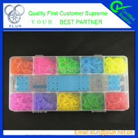 Latex free alibaba wholesale eco friendly silicone loom bands crazy colorful diy loom band kit