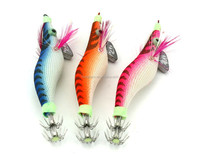 """Wholesale fishing squid jig lures 2.0# high quality workmanship fishing hooks 3.23"""" 0.23oz with feather chinese manufacturer"""
