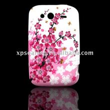 flower TPU case skin back cover for HTC Wildfire G8