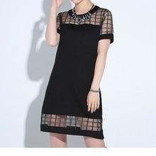 D80260F 2015 hot sale lady mesh straight skirt dress
