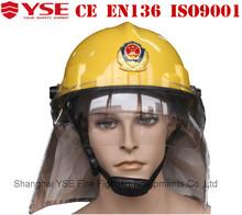 Shanghai YSE Factory Direct Supply Training Firefighting Firefighter Safety Fireman Helmet