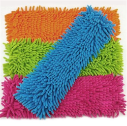 Super absorbent microfiber dust cleaning flat mop