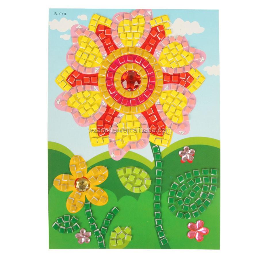 Garden Flower Design 3d Mosaic Puzzlekids Sticker Puzzle
