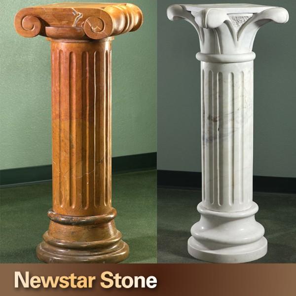 D coratif marbre pierre colonne romaine for Colonne quadrate decorative