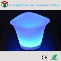 Rechargeable plastic party events use led ice container, ice bucket