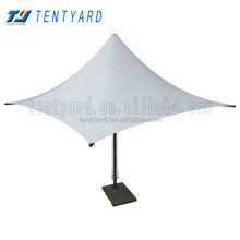 2015firmly PVC &stainless steel fixed outdoor umbrella
