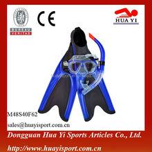 Wholesale diving equipment promotion scuba gears diving mask snorkel fins