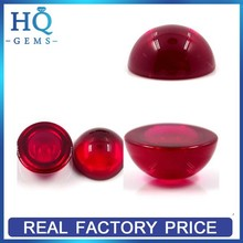 Wholesale Cabochon Synthetic Corundum Not Natural Indian Ruby