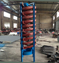 Working in the Indonesia gold ore mining equipment Spiral Chute/spiral separator