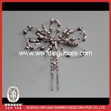 Wear bead design hair decoration fork