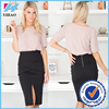 China wholesale 2 piece set for fashion office ladies picture of short tops and skirts
