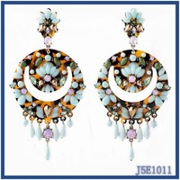 Luxury nightclub cool lady exaggerated Earrings fashion design hanging earrings fashion earring designs new model earrings