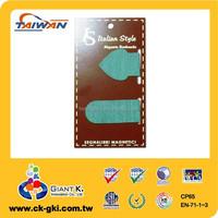 Texture magnetic paper bookmark folding magnet for souvenir green spade