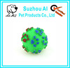 Colorful Voiced Sound Embossed Rubber Training Pet Dog Talking Cat Toyat Toy Ball Bell