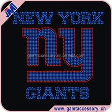 New York NY Giants Rhinestone Transfer Football Designs Wholesale