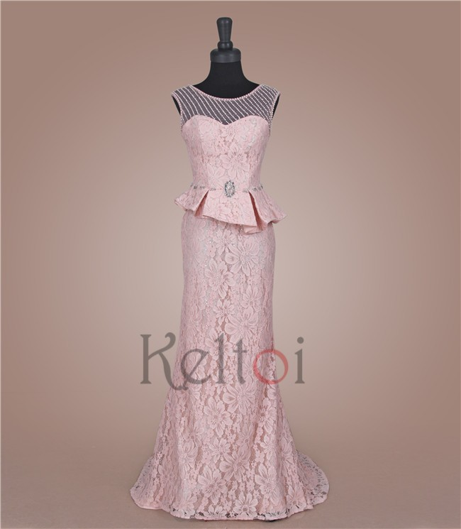 Allure pink haute couture evening dresses for boat evening for Haute couture cost
