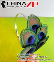 Best selling plumage Fascinator MEGS Peacock Feather Headband for ladies