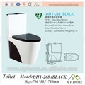 Inodoro de cerámica de color negro, wc de Chaozhou China