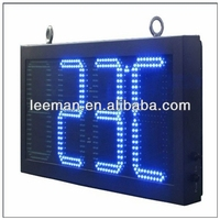 digital time led clock and temperature sign xx video china ph12 advertising rental mobile led large 7 segment gas price sign