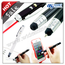 4 in 1 laser stylus pen and ball pen , LED flashlight , Promotional writing instruments Christmas Gift