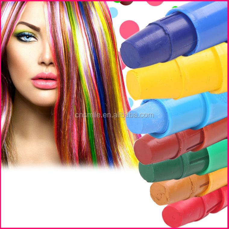 meilleure usine vente temporaire couleur des cheveux chalk pen pour la teinture cheveux inoffensif cheveux stylo - Coloration Temporaire Cheveux