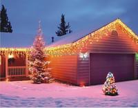 rubber housing decorative light 230V LED outdoor icicle lights hot sale