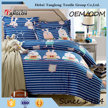 Cheap twin comforter sets for adults luxury wedding 40s tencel duvet cover set printed queen size cartoon bedding set