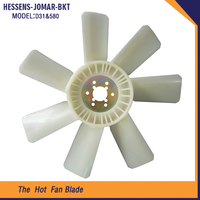 Good Price D31 580 fan blade for air compressor plastic air conditioner fan blades