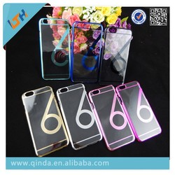 Hot Selling 2015 Newest Clear Transparent Plastic Cover Case For iphone6/iphone6 plus