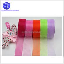 2015 New design hot sale decorative wholesale organza ribbon ,cheap organza ribbon ,silk organza ribbon