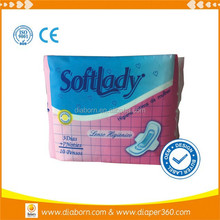 imports exports in China sanitary napkin disposal