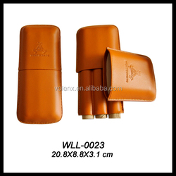 3 Finger genuine leather case with logo