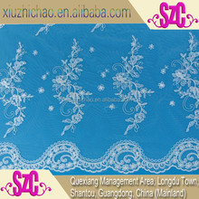 T0300-1-B(0.4)Accept customers' design embroidered africa fabric lace for wedding dresses