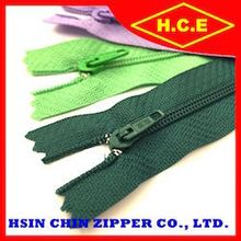 China makers no 3 with cord semi auto lock nylon zippers for luggage bags