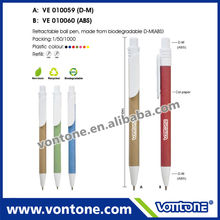 high quality customized logo biodegradable ball Pen