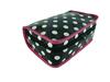 dot shiny pvc bag / large makeup bag for girl / travel toiletry bag for traveler