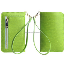 New design Lady Wallet hand bag leather case for Samsung Galaxy S5 mini