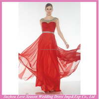 HE10062 real prom dresses with sleeves open back floor length chiffon beaded wholesale prom dress