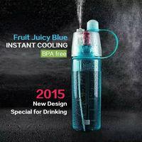 New products 2015 innovative products bpa free mist spray bottle sport detox bottle protein shake bottle