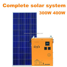 300W off grid complete photovoltaic solar system with built-in battery and inverter