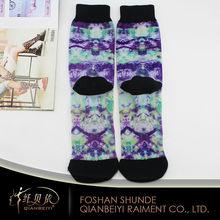 Bright color printed socks harajuku style basketball socks