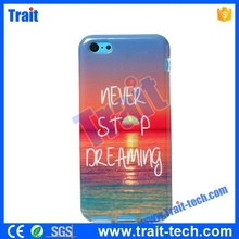 English Letter Never Stop Dreaming - Colored Drawing Painting Soft TPU Back Case for iPhone 5C
